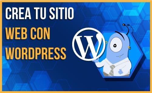 crea tu sitio web con wordpress